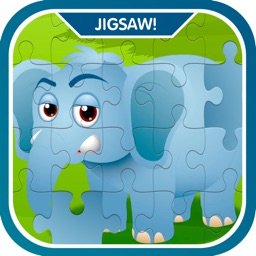 Learn Zoo Animals Jigsaw Puzzle Game For Kids
