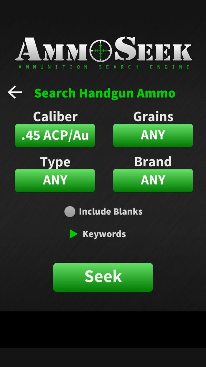 AmmoSeek - Ammo Search Engine Screenshot