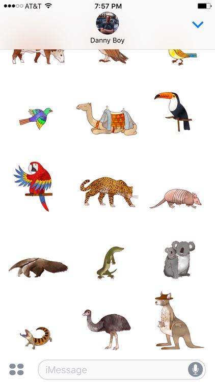 Jazzy World Animals - Wildlife Zoo Stickers screenshot-3
