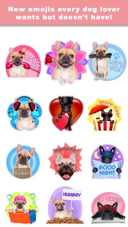 FrenchieLoveMoji Stickers & Keyboard for Bulldogs