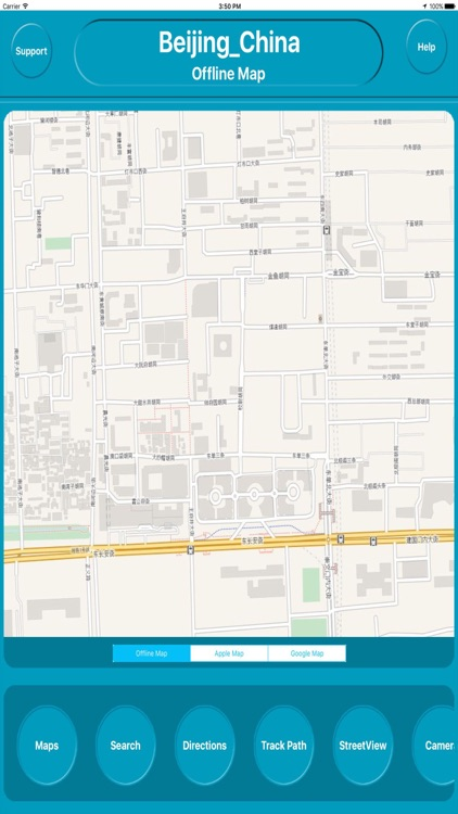 Beijing China Offline Map Navigation GUIDE