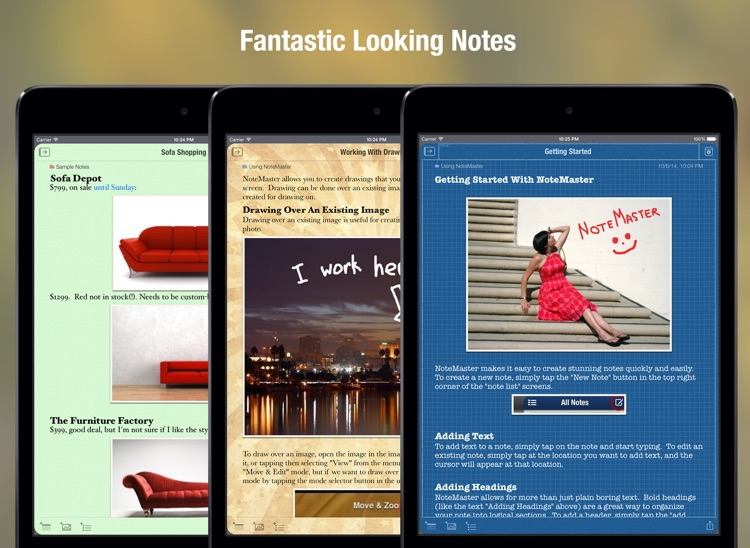 NoteMaster Lite for iPad - amazing notes screenshot-3