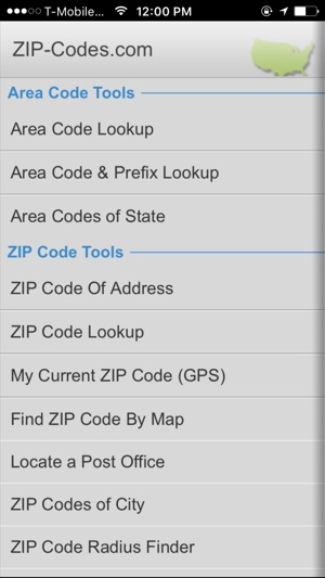 Anaheim Ca Zip Code Map.Zip Code Tools On The App Store
