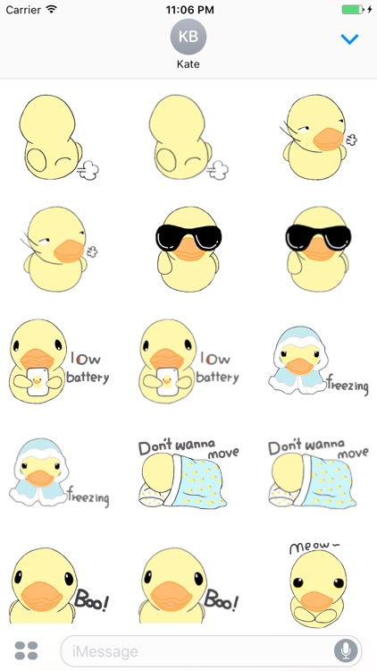 Stupid Little Duck English Sticker screenshot-4