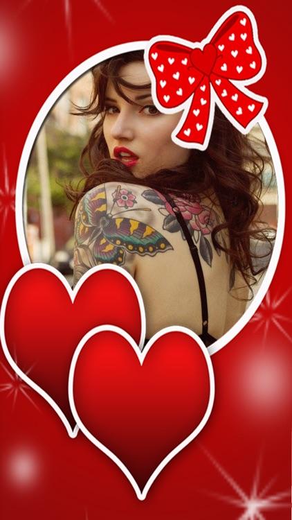 Valentine.s Tattoo -Add Artwork Sticker.s To Photo app image