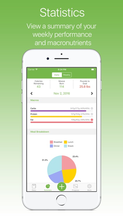 MooveFit - Calorie, Activity and Weight Tracker