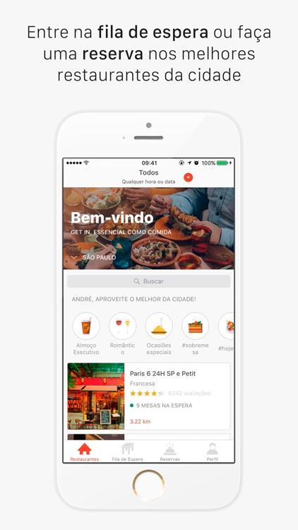 Get In - Reservas e Fila de Espera em Restaurantes screenshot-0