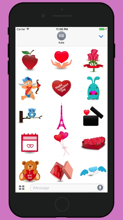 Valentine week love stickers 2017 screenshot-0