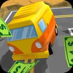 Car Keep Money - Drive at Winding Road to Endless