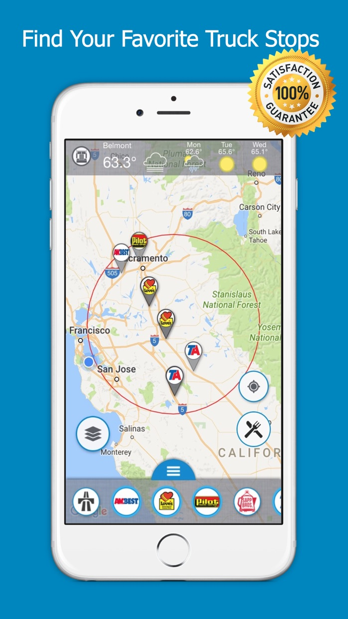 Road Hunter - Truck Stops Finder and GPS Screenshot