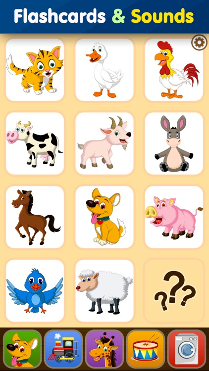 Toddler Flashcards: Learning Baby Kids Games Free