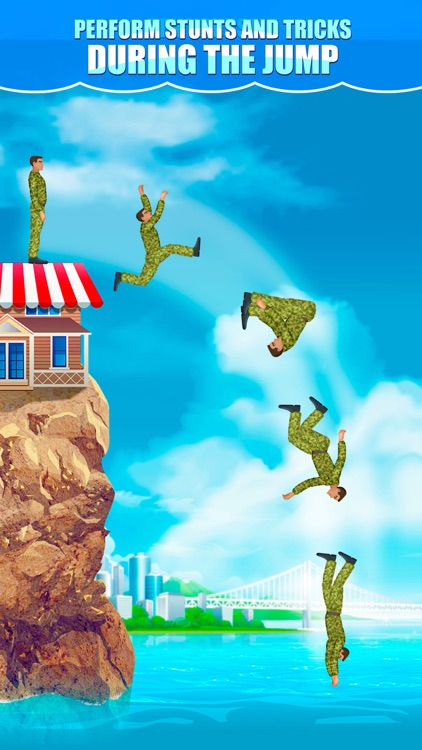 Cliff Flip Diving 2D: Swimming Simulator Full screenshot-3