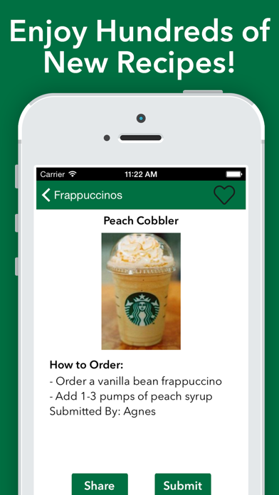 Secret Menu for Starbucks Pro! Screenshot