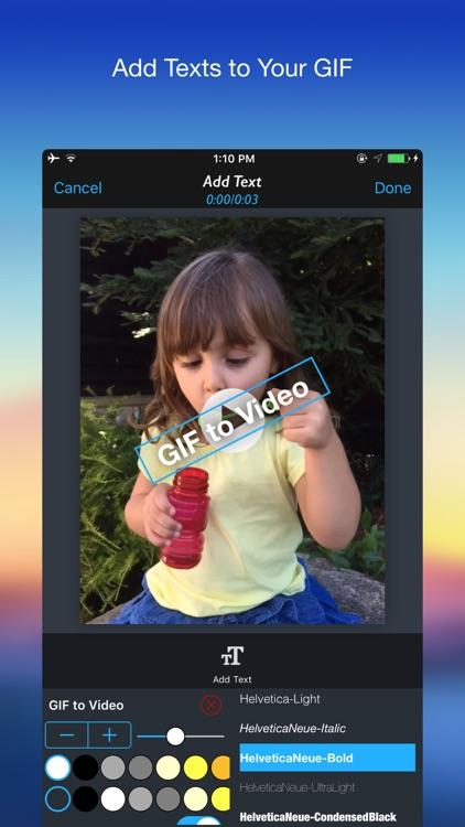GIF 2 Video - Convert GIF to Video screenshot-3