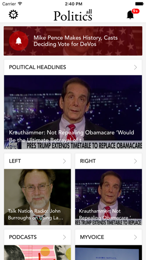 all Politics Government policy action news & polls Screenshot