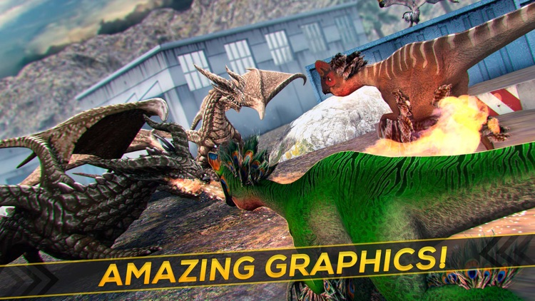 Legend of the Dragon . Fantastic Dinos vs Dragons