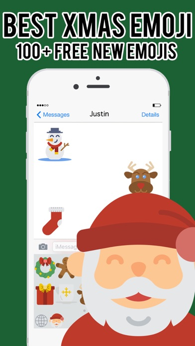 XmasEmoji - Christmas Emojis Stickers Keyboard Pro screenshot two