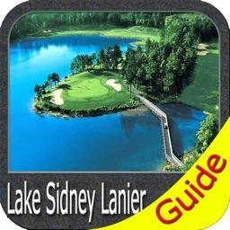 Lake Lanier Georgia gps charts fishing map offline