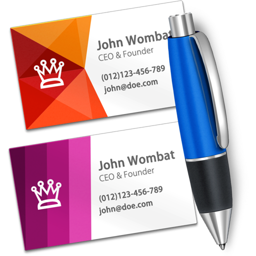 Business card designer create business cards app data review business card designer create business cards app logo reheart Gallery