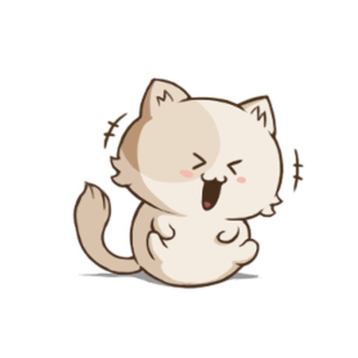 Cute Chubby Cat Stickers