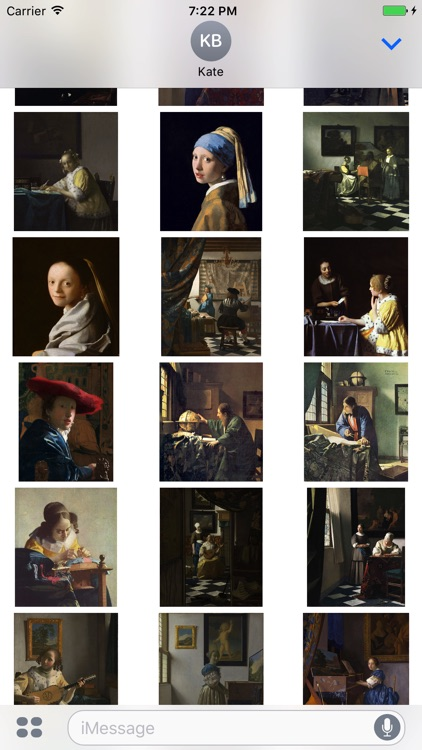 Johannes Vermeer Paintings for iMessage