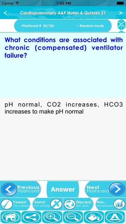 Cardiopulmonary Anatomy & Physiology Exam review