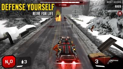 ゾンビロードハイウェイ:無料レーシング&シューティングゲームのスクリーンショット1