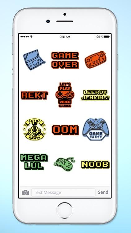 Gamer 4 Life Video Game Sticker Pack screenshot-4