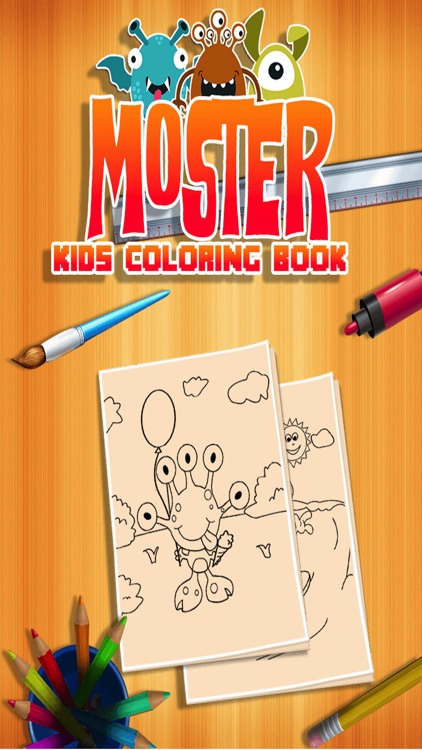 Monster Kids Coloring Book