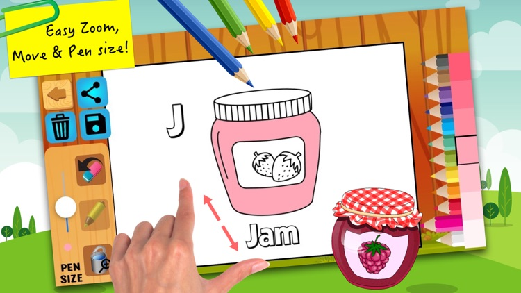 ABC coloring pages painting for kids learning