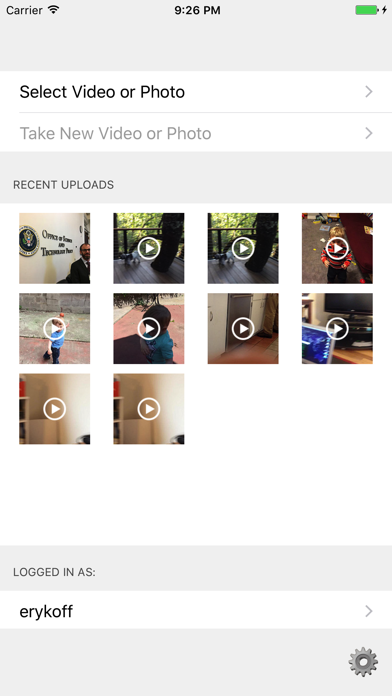 FVidUp - Flickr Video and Photo Uploader screenshot one