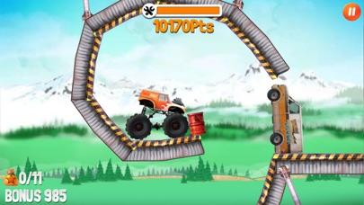 大脚车特技表演赛车 - 碾压一切的怪兽卡车 App 截图