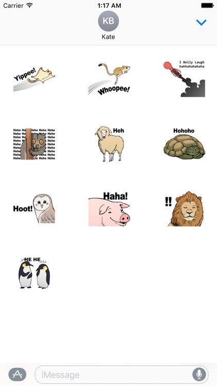 Many Animals Laugh Lol Stickers