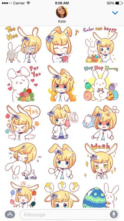 Little Miss Usagi stickers screenshot-3