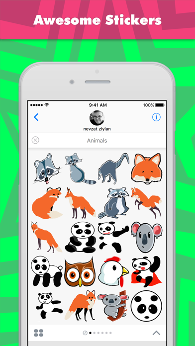 Animals stickers by Nevzat