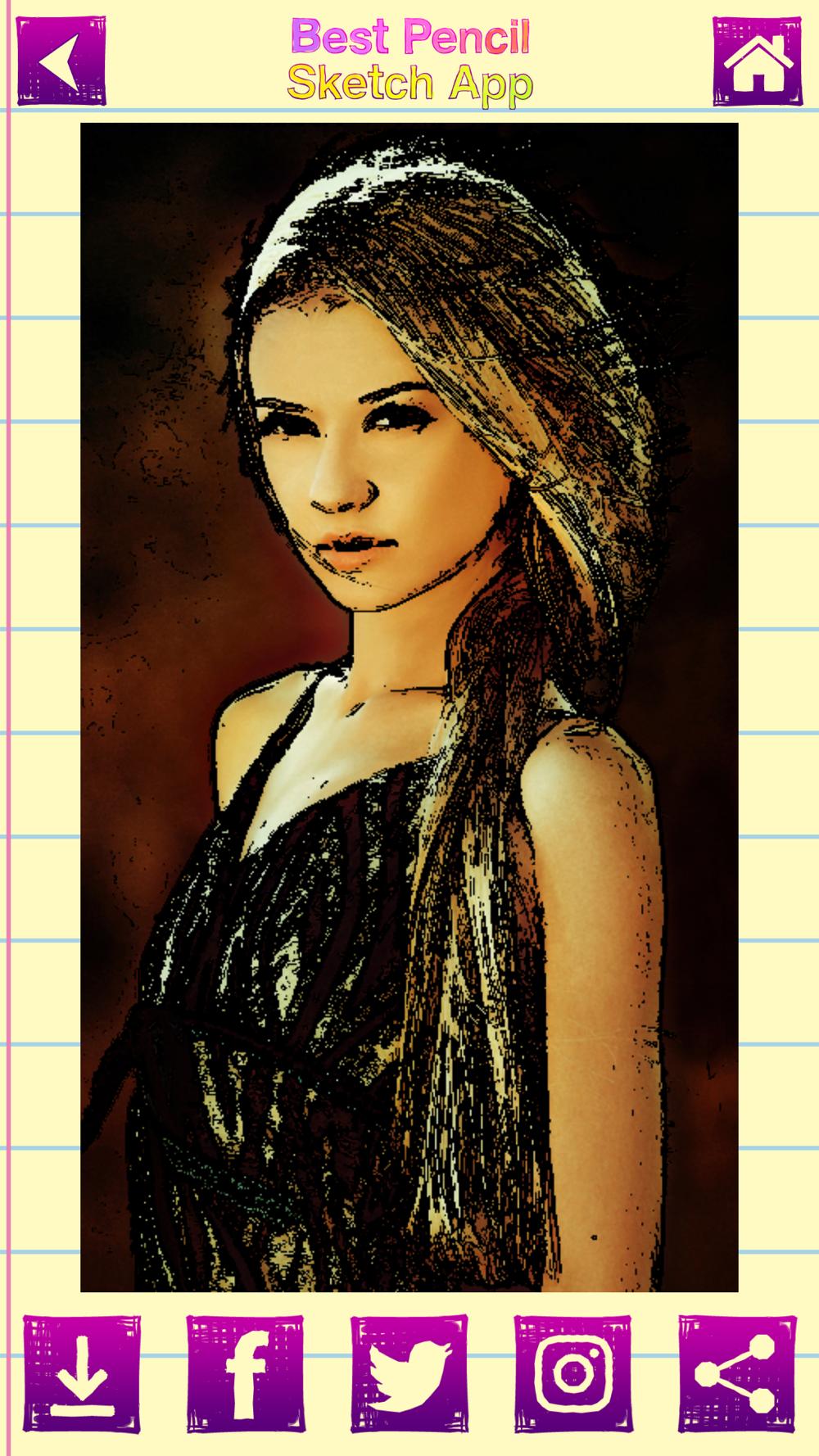 Best Pencil Sketch App Portrait Draw.ing Filters Free Download App ...