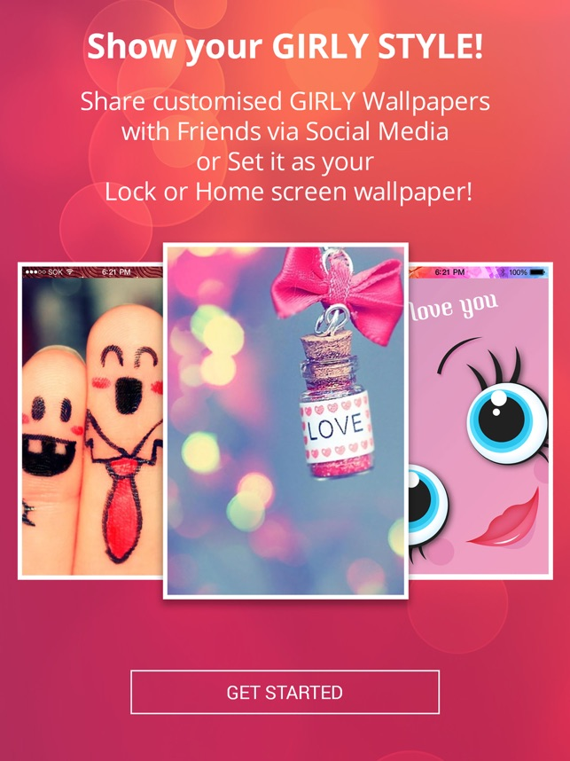 Pink Wallpapers Hd Cute Backgrounds For Girls En App Store