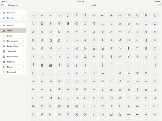 Symbols - unicode keyboardのおすすめ画像1