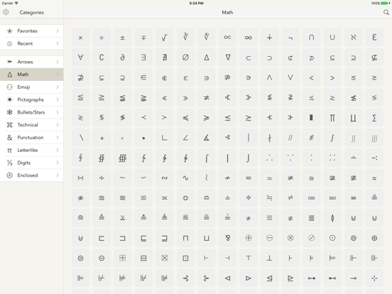 Symbols - unicode keyboard | App Price Drops