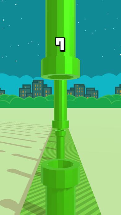 Flappy 3D - Bird's Eye View Screenshot on iOS