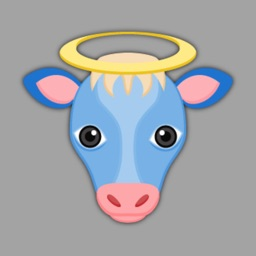 True Blue Cow Emoji Stickers