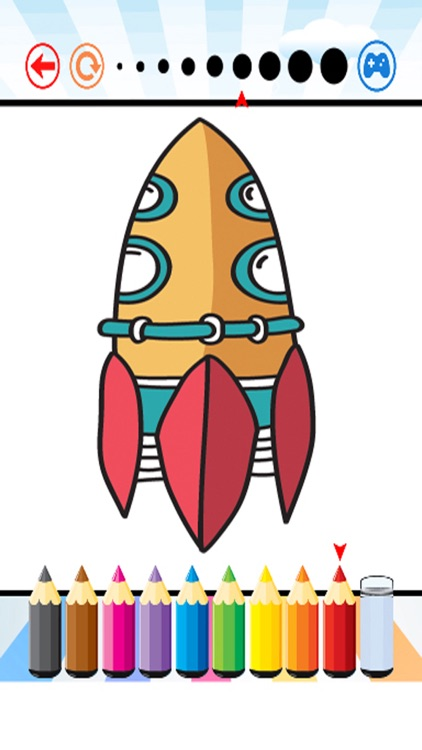 Spaceships Coloring Book - Activities for Kid