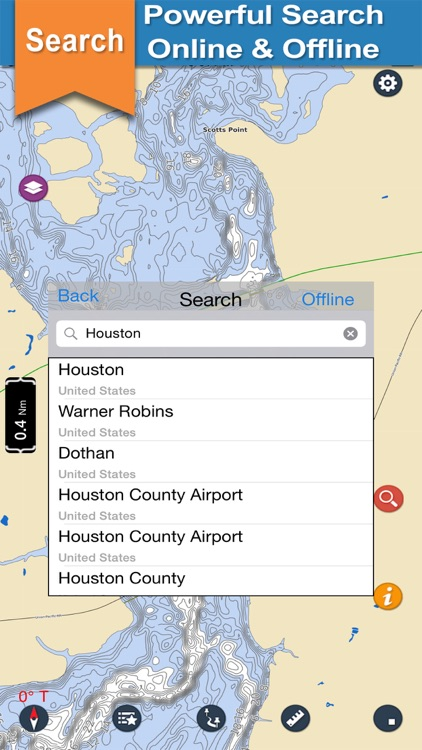 Houston offline gps chart for lake and park trails screenshot-3