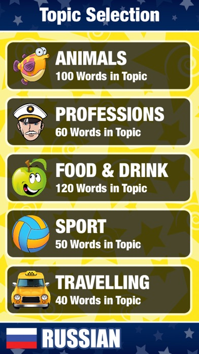 Learn Russian Words and Punctuation Screenshot