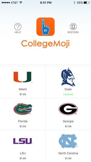 CollegeMoji : College Emojis and Sticker Keyboard on the App