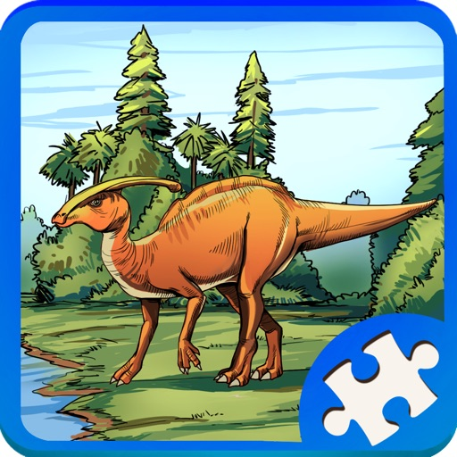 T Rex Dinosaur Jigsaw Puzzle Game for Kids
