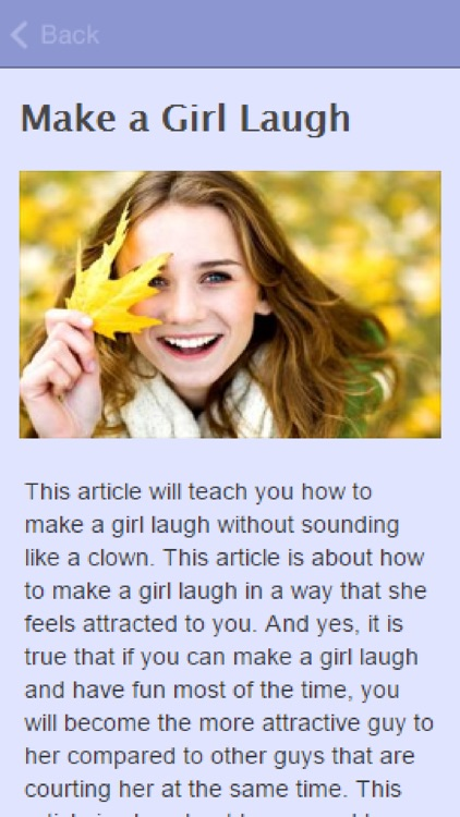 How To Make A Girl Laugh.