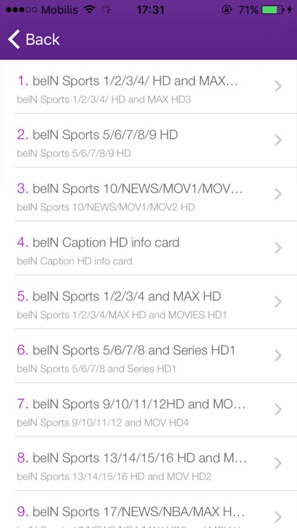Tv Sat Info For beIN Sports HD 2017-Match For beIN by