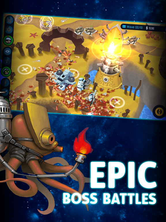OTTTD: Over The Top Tower Defense для iPad