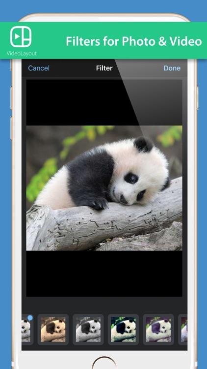 VideoLayout - mix Photos & videos Collage screenshot-3